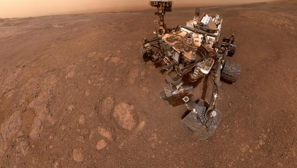 A selfie taken by NASA's Curiosity Mars rover on Sol 2291 (January 15) at the Rock Hall drill site, located on Vera Rubin Ridge. - Sputnik International