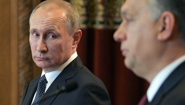Russian President Vladimir Putin holds press conference with Hungarian Prime Minister Viktor Orban on February 2, 2017 - Sputnik International