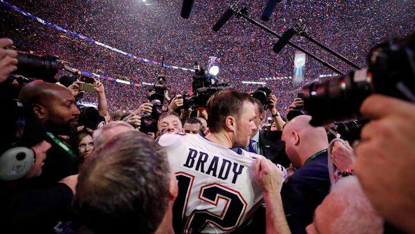 NFL Football - Super Bowl LIII - New England Patriots v Los Angeles Rams - Mercedes-Benz Stadium, Atlanta, Georgia, U.S. - February 3, 2019. New England Patriots' Tom Brady celebrates winning the Super Bowl LIII - Sputnik International