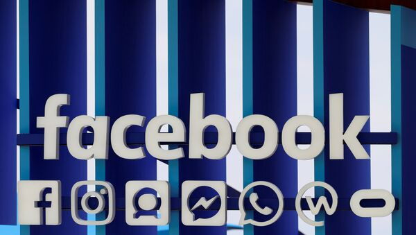 A Facebook panel is seen during the Cannes Lions International Festival of Creativity, in Cannes, France, June 20, 2018 - Sputnik International
