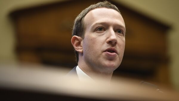 Facebook CEO and founder Mark Zuckerberg testifies during a US House Committee on Energy and Commerce hearing about Facebook on Capitol Hill in Washington, DC, April 11, 2018 - Sputnik International