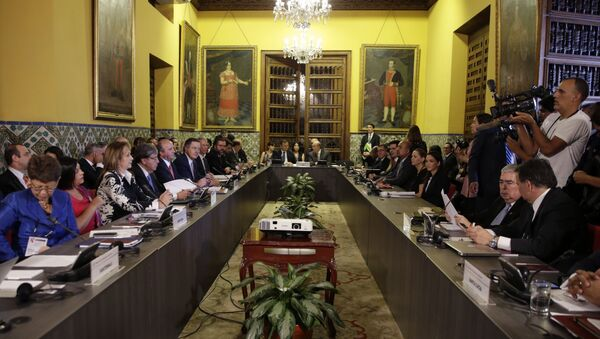 Foreign Ministers of the Lima Group gather for a meeting concerning Venezuela, in Lima, Peru, Friday, Jan. 4, 2019 - Sputnik International