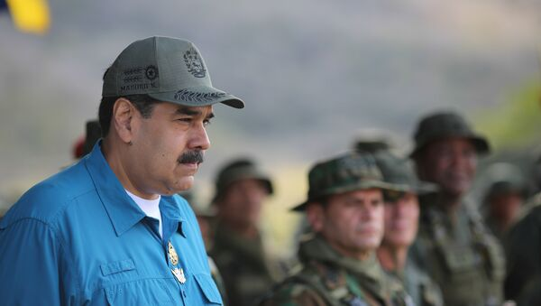 Venezuelan President Nicolas Maduro attends a military exercise in Turiamo, Venezuela February 3, 2019. - Sputnik International