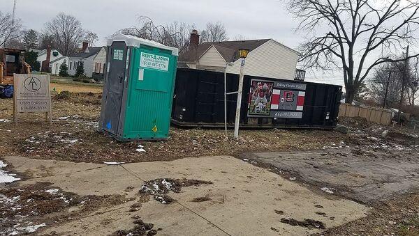 A Rent-a-John portable toilet in Arlington, Ohio - Sputnik International