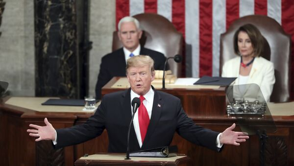 President Donald Trump delivers his State of the Union address to a joint session of Congress on Capitol Hill in Washington - Sputnik International