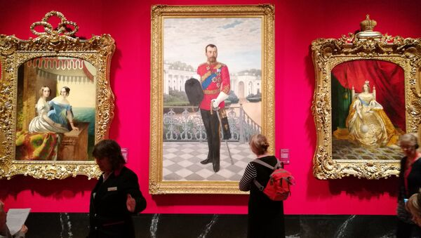 A painting of Tsar Nicholas II is displayed at the 'Russia, Royalty & the Romanovs' Exhibition at The Queen's Gallery in London, UK - Sputnik International