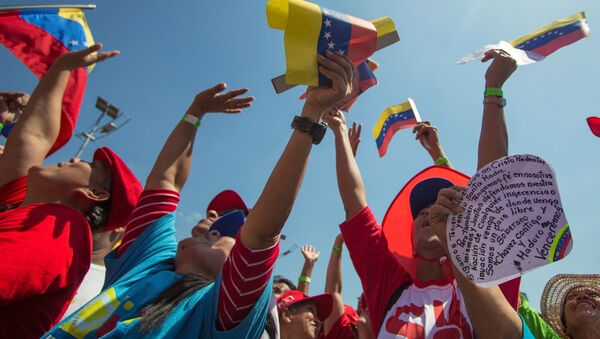 Action in support of the president of Venezuela N. Maduro - Sputnik International