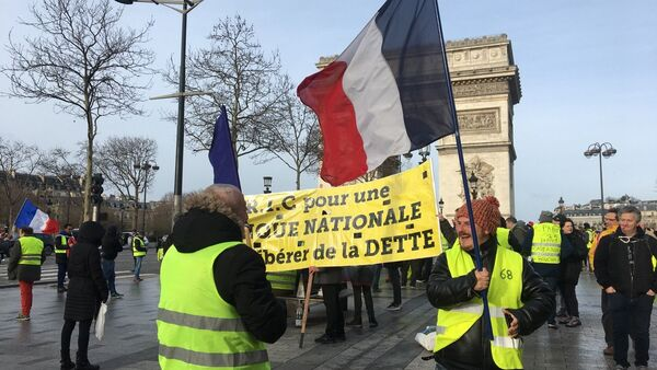 Yellow Vests Protests Continue for 13th Week - Sputnik International