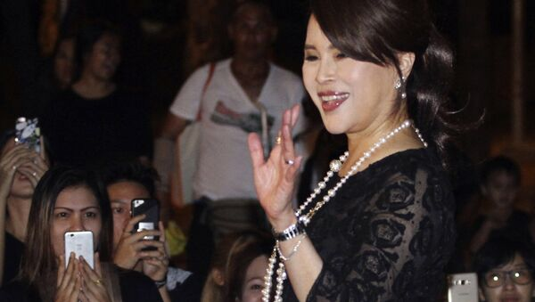 Thai Princess Ubolratana Mahidol waves to Thai people outside Grand Palace in Bangkok , Thailand. The selection of the elder sister of Thailand's king as a political party nominee for prime minister has upended a tradition of the palace playing no public role in politics. Most but not all modern monarchies steer clear of direct involvement in electoral politics or governing - Sputnik International