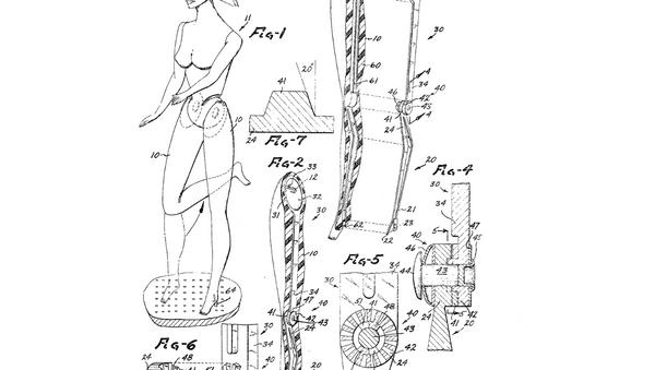 original patent submission for a Barbie doll - Sputnik International