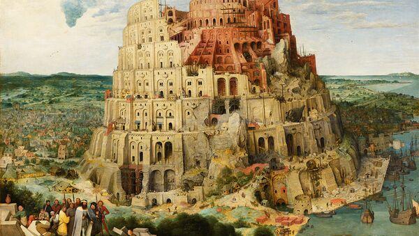 Pieter Bruegel the Elder - The Tower of Babel, 1563 (Vienna). - Sputnik International