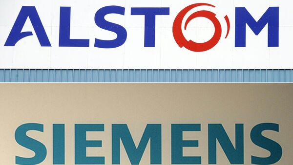 Alstom, a French company, was due to merge its railway business with the German giant Siemens, until the EU's anti-trust chief vetoed the deal in February 2019 - Sputnik International