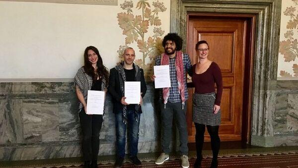 2019 Copenhagen Courageous Award goes to Humboldt3 BDS human rights activists - Sputnik International