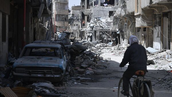 The city of Douma near Damascus after liberation from terrorists - Sputnik International