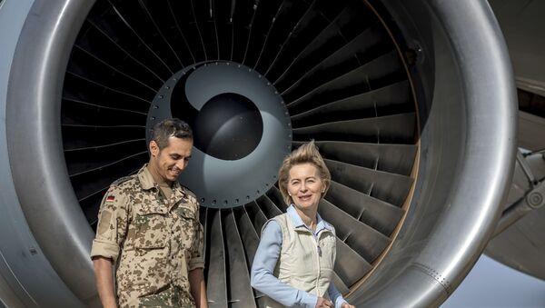 German Defence Minister Ursula von der Leyen in northern Jordan  - Sputnik International