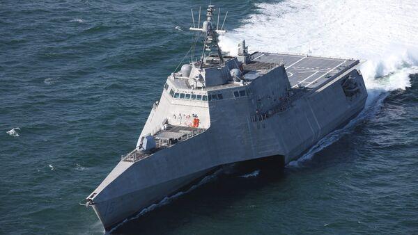 Independence-class littoral combat ship USS Tulsa undergoing trials (US Navy handout) - Sputnik International