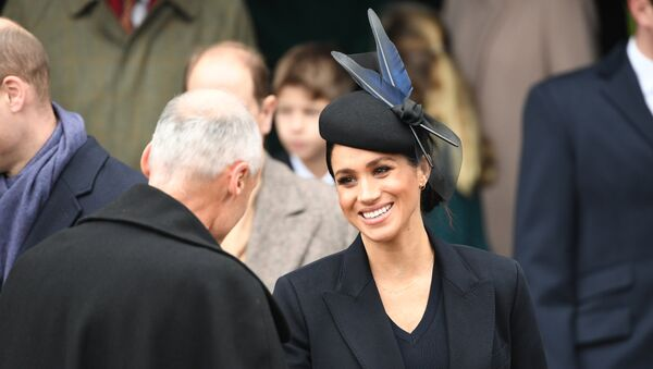 Meghan, Duchess of Sussex departs after the Royal Family's traditional Christmas Day service at St Mary Magdalene Church in Sandringham, Norfolk, eastern England, on December 25, 2018. - Sputnik International