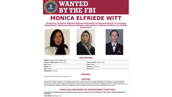 This image provided by the FBI shows the wanted poster for Monica  Witt - Sputnik International