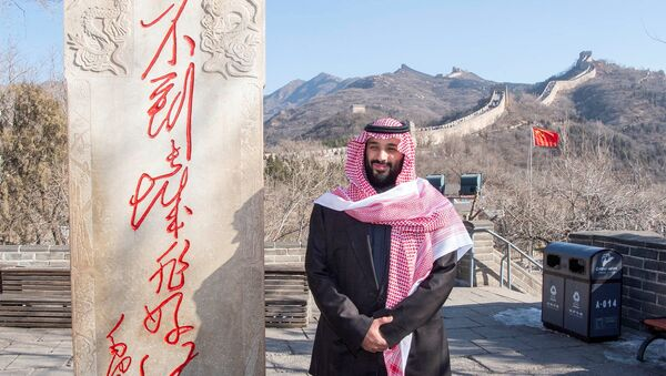 Saudi Arabia's Crown Prince Mohammed bin Salman poses for camera during his visit to Great Wall of China in Beijing, China February 21, 2019 - Sputnik International