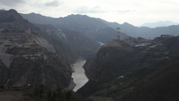 Railway Bridge Across Chenab River, Kashmir, India - Sputnik International