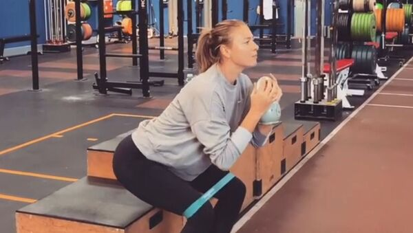 Maria Sharapova Shows Off Her Fitness Training Routine - Sputnik International