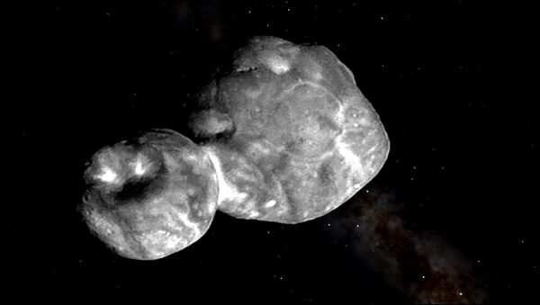 image of Ultima Thule, a trans-Neptunian object located in the Kuiper belt, taken by the unmanned NASA New Horizons spacecraft on Jan 1, 2019. - Sputnik International