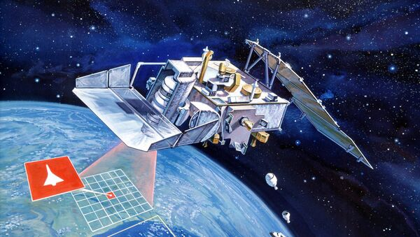 Artist conception of Space Test Program (STP) P-80-1 satellite from Defense Advanced Research Projects Agency - Sputnik International