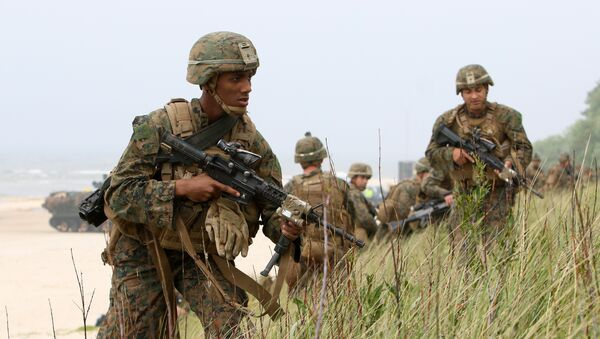 US soldiers take part in the Exercise Baltic Operations (BALTOPS), a NATO maritime-focused military multinational exercise in Lithuania - Sputnik International