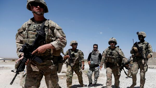 US troops patrol at an Afghan National Army (ANA) Base in Logar province, Afghanistan - Sputnik International