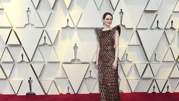 Emma Stone arrives at the Oscars on Sunday, Feb. 24, 2019, at the Dolby Theatre in Los Angeles. - Sputnik International
