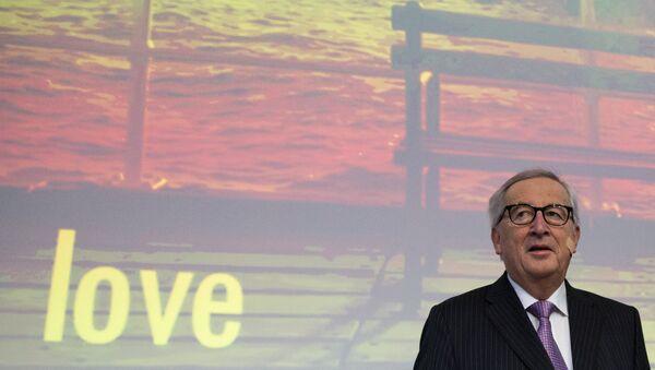 European Commission President Jean-Claude Juncker attends an event at the EU Charlemagne building in Brussels, Thursday, Feb. 21 2019 - Sputnik International