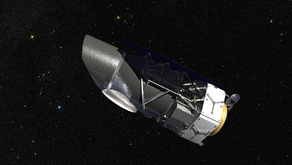WFIRST, the Wide Field Infrared Survey Telescope, is shown here in an artist's rendering. It will carry a Wide Field Instrument to provide astronomers with Hubble-quality images covering large swaths of the sky, and enabling several studies of cosmic evolution. Its Coronagraph Instrument will directly image exoplanets similar to those in our own solar system and make detailed measurements of the chemical makeup of their atmospheres. - Sputnik International