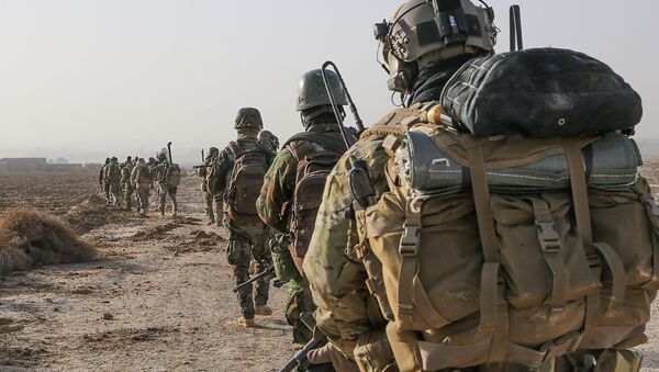 A U.S. Army Special Forces Soldier with Combined Joint Special Operations Task Force (File) - Sputnik International