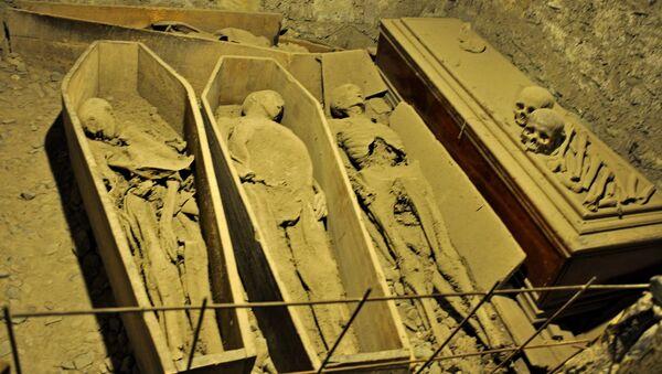 Mummies in the St Michan's Church crypt - Sputnik International
