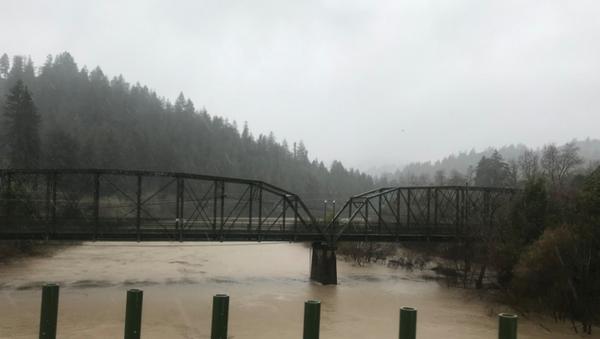 Russian River rising in northern California - Sputnik International