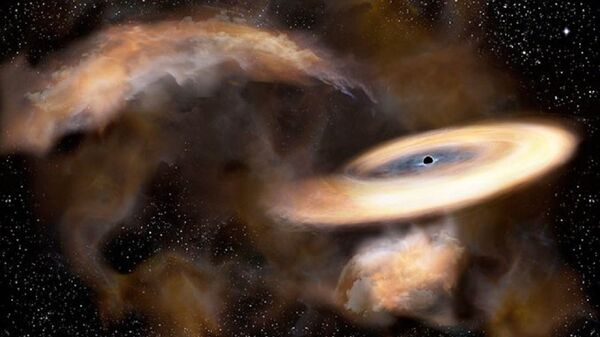 An artist's impression of a newly discovered black hole near the core of the Milky Way - Sputnik International