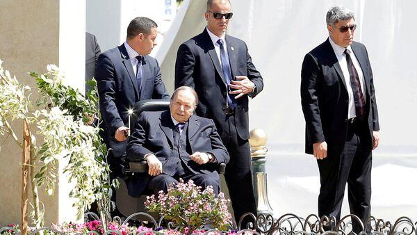 Algerian President Abdelaziz Bouteflika is seen in Algiers - Sputnik International