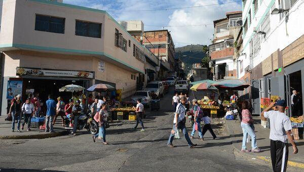 Street in a popular Caracas neighbourhood - Sputnik International