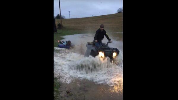 Having Fun in a Flooded Field - Sputnik International