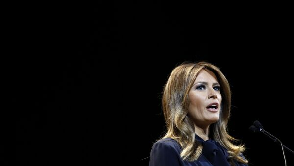 First lady Melania Trump speaks before participating in a town hall on the opioid epidemic with moderator Eric Bolling in Las Vegas, Tuesday, March 5, 2019, during a two-day, three-state swing to promote her Be Best campaign - Sputnik International