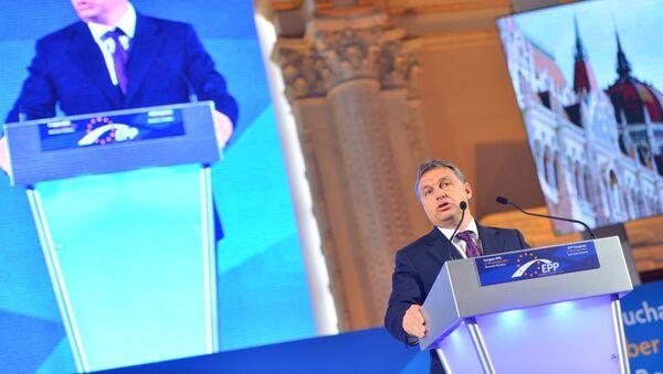 Hungarian Prime Minister Viktor Orban speaking at European People's Party's meeting (File photo). - Sputnik International