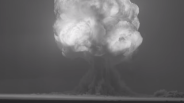 A screenshot from restored footage of the Trinity test, the world's first nuclear weapons explosion, on July 16, 1945 - Sputnik International