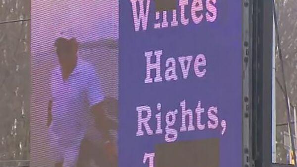 WPXI screenshot of Pennsylvania man's billboard - White Have Rights, Too slide - Sputnik International