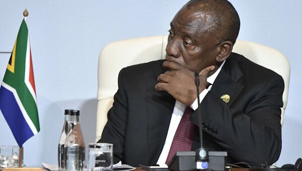 South African President Cyril Ramaphosa at a BRICS group of country meeting in July 2018. File photo. - Sputnik International