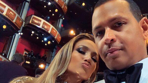 Jennifer Lopez and Alex Rodriguez during 2019 Oscars Ceremony - Sputnik International
