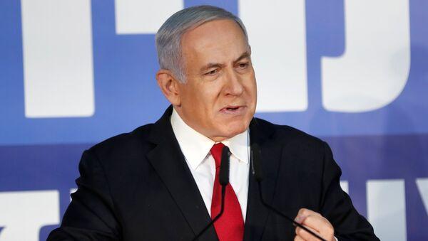 Israeli Prime Minister Benjamin Netanyahu delivers a statement to the media - Sputnik International