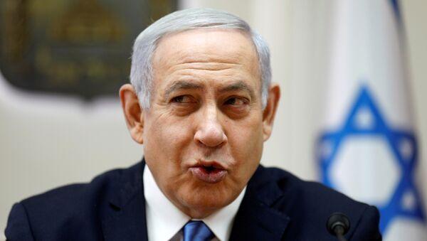 Israeli Prime Minister Benjamin Netanyahu speaks during the weekly cabinet meeting in Jerusalem March 10, 2019 - Sputnik International