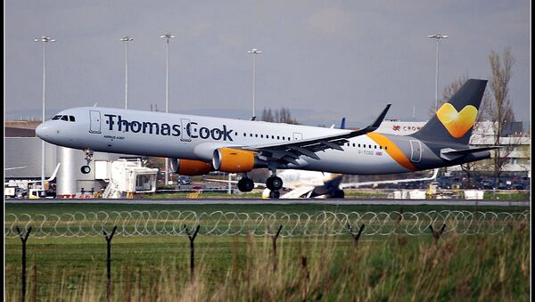 An Airbus A321 aircraft of the Thomas Cook carrier at the Manchester Airport (File photo). - Sputnik International