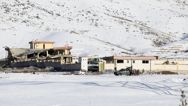 In this Monday, Jan. 21, 2019, photo, Afghan security forces inspect the site of a Taliban attack in Maidan Shar, capital of Maidan Wardak province, east of Kabul, Afghanistan. Afghan official said Tuesday, Jan. 22, 2019, scores of people mostly military personals were killed in the Taliban assault on a military base and a pro-government militia training center a day earlier in the province. - Sputnik International