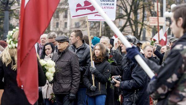 People Take Part in Waffen-SS Veterans March in Riga - Sputnik International